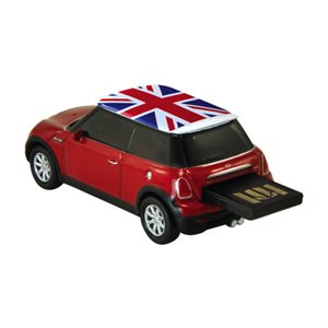 8GB USB COOPER RED/UK FLG AUTODRIVE ENGLISH