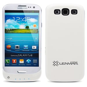 LENMAR BATTERY CASE FOR SAMSUNG GALAXY S III, 2400MAH, WHITE