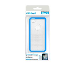 XTREME PROTECTIVE BUMPER CASE FOR THE IPHONE 5 BLUE