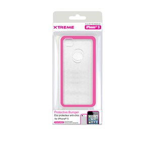 XTREME PROTECTIVE BUMPER CASE FOR THE IPHONE 5 PINK