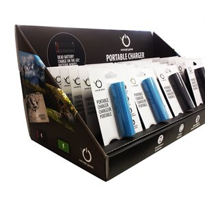 CONCEPT GREEN BATTERY BANK - COUNTER DISPLAYER 24xCG2200mah (12x blue/12x black)
