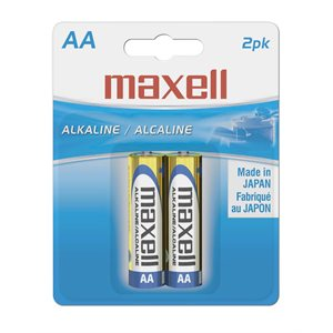 MAXELL BATTERIES AA - 2 PACK