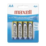 MAXELL BATTERIES AA - 4 PACK