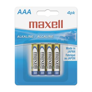 MAXELL BATTERIES AAA - 4 PACK