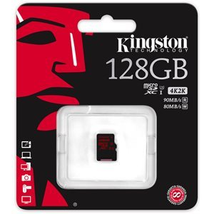 Carte mémoire Flash microSDHC/SDXC UHS-I de 128Go sans adapteur de Kingston