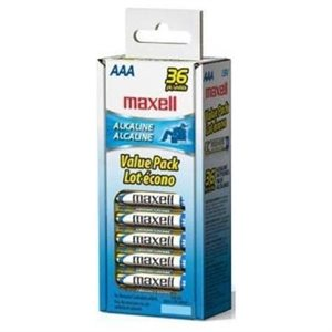 MAXELL BATTERIES AAA - 36 PACK