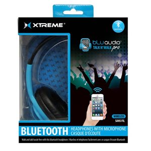 XTREME TALK N'WALK BLUETOOTH HEADPHONES - BLUE