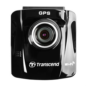 Transcend TS16GDP220A 32GB Drive Pro 220 Dash Cam Car Video Recorder with Adhesive Mount, Built-In Wi-Fi, and GPS Receiver + 16GB SD Card