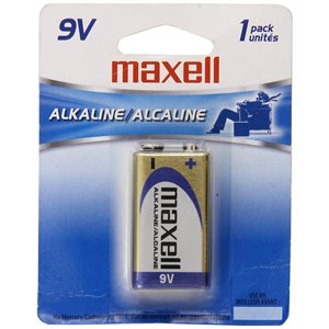 MAXELL BATTERIES 9V - 1 PACK
