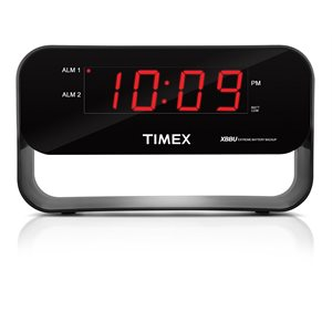 TIMEX T128 ALARM CLOCK BLACK