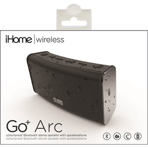 IHOME IBT33V2B RECHARGEABLE SPLASH PROOF STEREO BLUETOOTH SPEAKER - BLACK