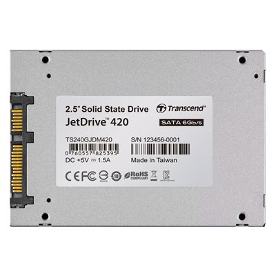 TRANSCEND 240GB JETDRIVE 420 2.5'' SSD SATA III FOR MAC