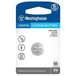 WESTINGHOUSE CR2032 LITHIUM BATTERY 3V - 1 PC