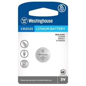 WESTINGHOUSE CR2025 LITHIUM BATTERY 3V - 1 PC