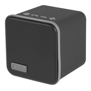 IHOME iBT56BGC PORTABLE RECHARGEABLE BLUETOOTH SPEAKER WITH SPEAKERPHONE AND USB CHARGING BLACK
