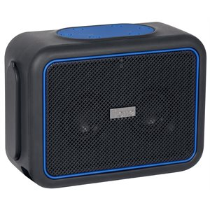 IHOME IBT35BLC WATER & DUSTPROOF BLUETOOTH RECHARGEABLE STEREO SPEAKER WITH SPEAKERPHONE POWER BANK