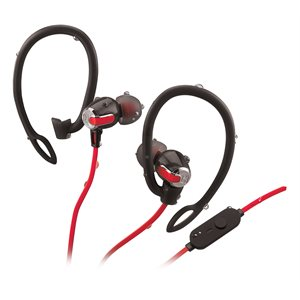 IHOME IB71BRC WATER RESISTANT BLUETOOTH WIRELESS  2-IN-1 SPORT EARPHONE WITH MIC - BLACK/RED