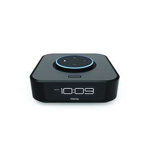 iHOME*English Only* Bedside Stereo Speaker System for Amazon Echo Dot*BLACK*