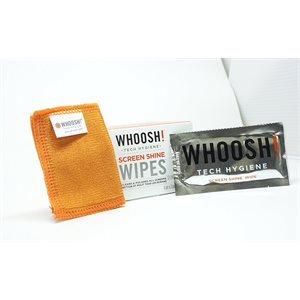 WHOOSH 12 Pack Screen Shine Wipes