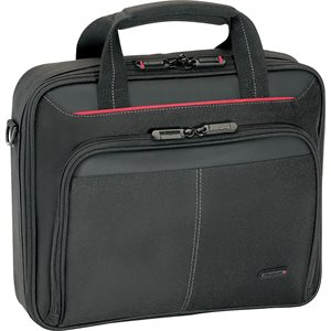 TARGUS CN31US CLASSIC CLAMSHELL CASE FOR 16-INCH LAPTOPS (BLACK WITH RED)
