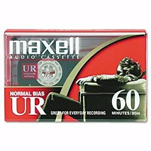 MAXELL 109010 UR-60 SINGLE NORMAL BIAS CASSETTES