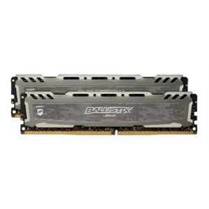 CRUCIAL BALLISTIX SPORT GREY 16GB KIT (8GBX2) DDR4 2666 (PC4-21300) CL16 DR X8 UNBUFF DIMM 288PIN