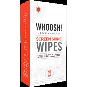 WHOOSH 30 Pack Screen Shine Wipes + 2 W! Mini Cloth