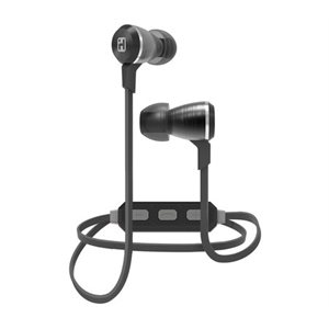 IHOME iB29GC WIRELESS BLUETOOTH METAL EARPHONES w/MIC + REMOTE GUNMETAL