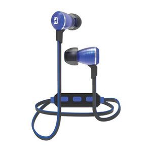 IHOME iB29LC WIRELESS BLUETOOTH METAL EARPHONES w/MIC + REMOTE BLUE