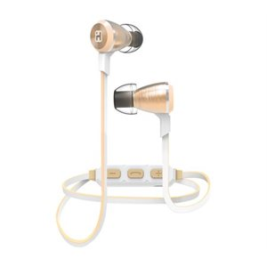 IHOME iB29YWC WIRELESS BLUETOOTH METAL EARPHONES w/MIC + REMOTE CHAMPAGNE
