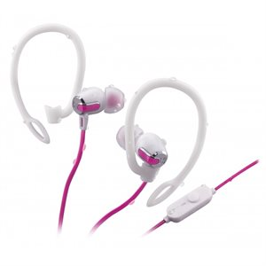 IHOME IB71BRC WATER RESISTANT BLUETOOTH WIRELESS  2-IN-1 SPORT EARPHONE WITH MIC - WHITE/PINK