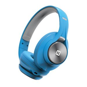 IHOME iB90V2 BLUETOOTH WIRELESS HEADPHONES w/EXTRA LONG LIFE BATTERY  BLUE*BILINGUAL*