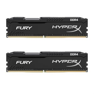 KINGSTON 16GB 2666MHz DDR4 NON-ECC CL16 DIMM (Kit of 2) 1Rx8 HyperX FURY Black