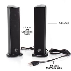 ACCESSORY POWER GOGROOVE SONAVERSE™ TI FULL-RANGE 2.0-CHANNEL USB POWERED SPEAKERS