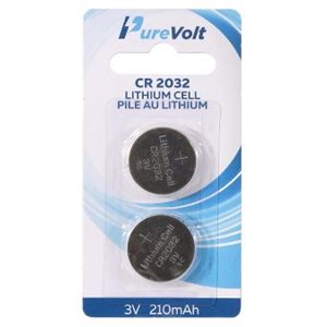 PureVolt CR2032 Lithium cell 3V 210mAh - 2 pack