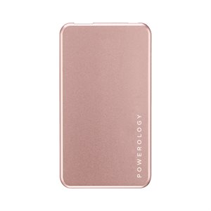 POWEROLOGY BATTERY BANK SLIMCHARGE 5000mah - ROSE GOLD