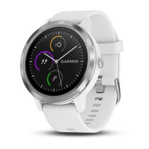 Garmin Vivoactive 3 GPS SMARTWATCH W/GARMIN PAY, WORLDWIDE *WHITE & STAINLESS*