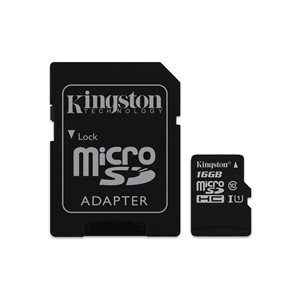 Carte Kingston microSDHC Canvas Select 80R CL10 UHS-I et adaptateur