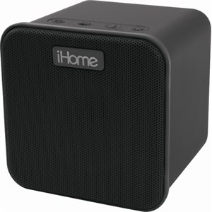 IHOME RECHARGEABLE BLUETOOTH WIRELESS SPEAKER W/LIGHT UP SPEAKER CONE & VOICE CONTROL*BLACK*