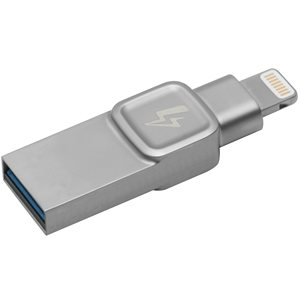 Kingston 128GB Bolt iPhone, iPad photo/video storage:lightning,USB 3.0 (Campatible, Non-proprietary)