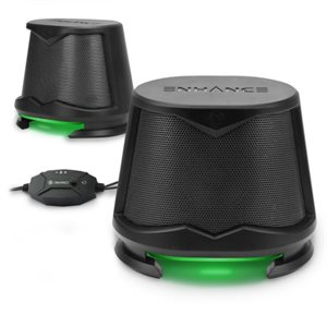 ACCESSORY POWER ENHANCE SB2 2.0 High Excursion Computer Speakers with LED Lights - Green