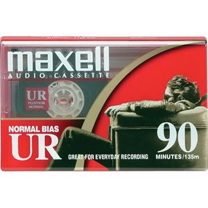 MAXELL 108510 UR-90 SINGLE NORMAL BIAS CASSETTES